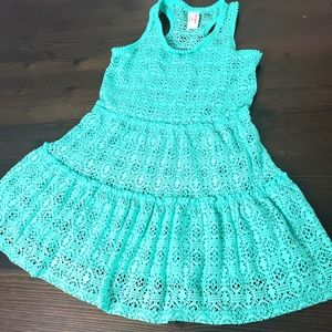 Cat & Jack Girls Turquoise dress sz 7/8